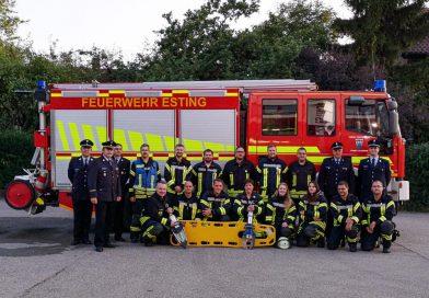 Feuerwehr Esting absolviert Leistungsprüfung im Bereich Technische Hilfeleistung